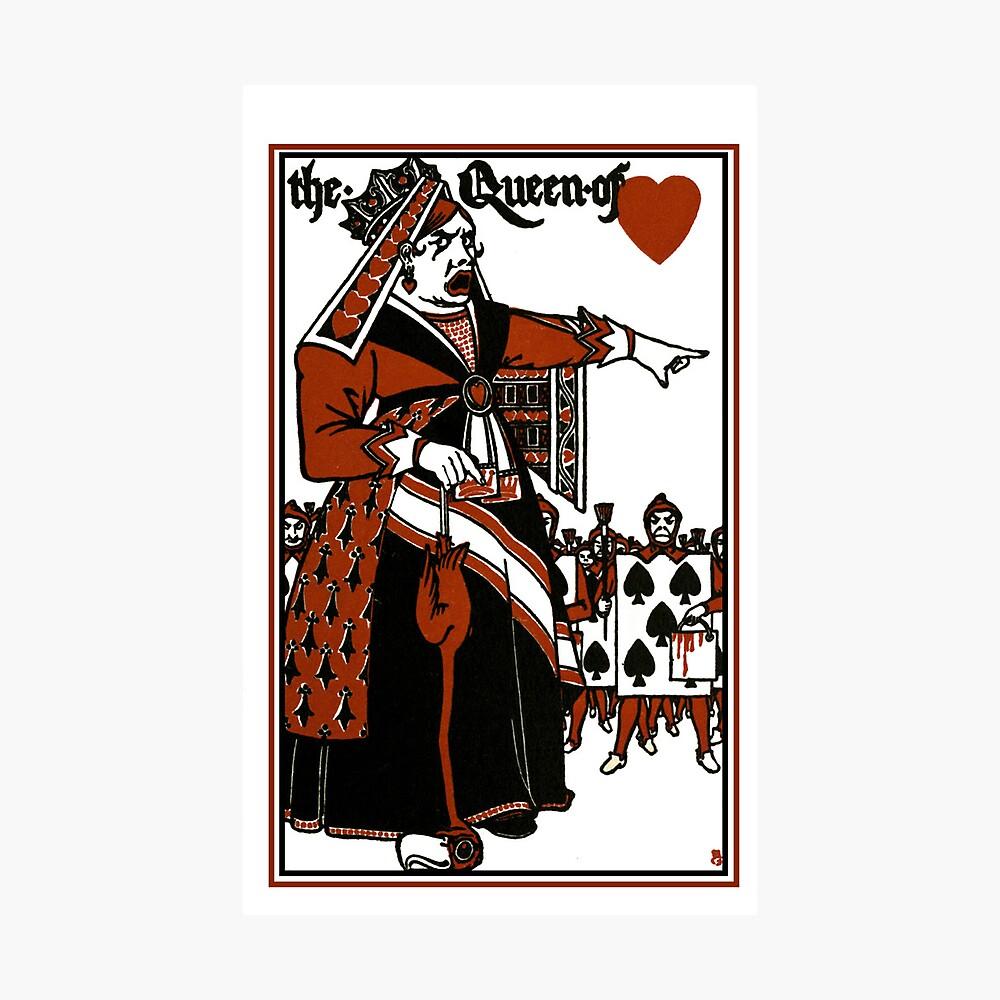 Alice In Wonderland; A Play. Queen of Hearts Fotodruck