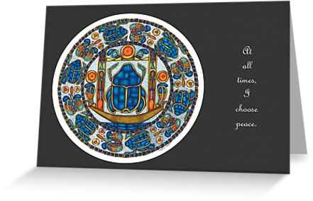 Resurrection Mandala - Full-Color Card, Grey w/Msg by TheMandalaLady