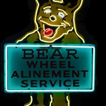 Neon Bear Gas and Oil by billypsc