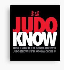 Judo Know Canvas Print