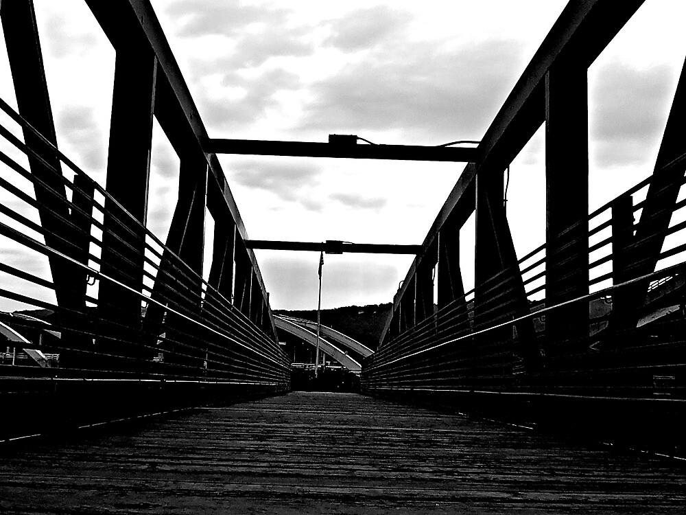 black and white bridge by mikayla williams