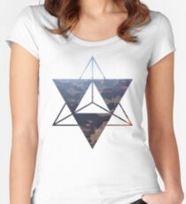 desert Merkaba Women's Fitted Scoop T-Shirt