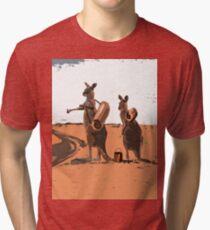 AUSSIE BACKPACKERS Tri-blend T-Shirt
