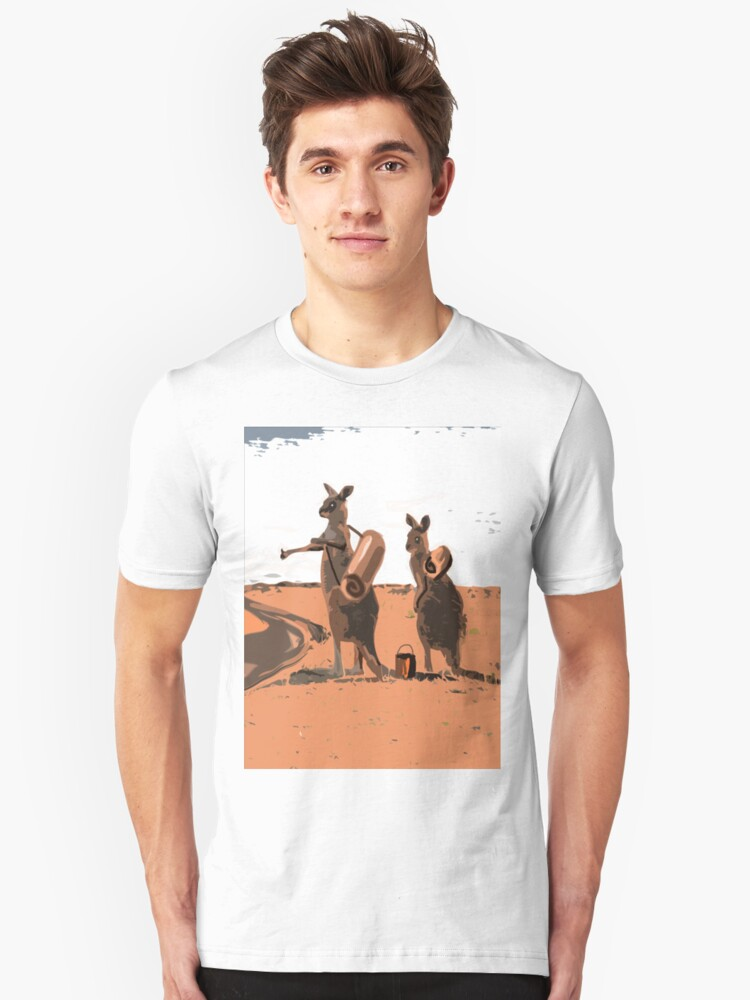 AUSSIE BACKPACKERS Unisex T-Shirt Front
