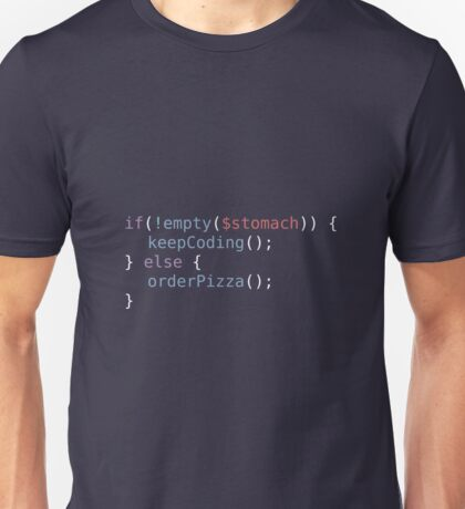 Hungry Coder Unisex T-Shirt