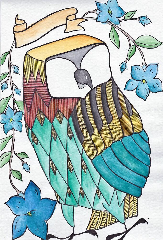 Colorful Owl by ZAPcreativity