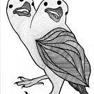 Two Headed Three Eyed Crow by ZAPcreativity