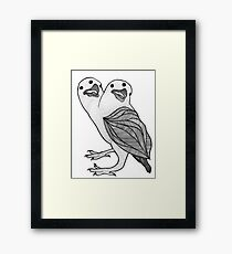 Two Headed Three Eyed Crow Framed Print