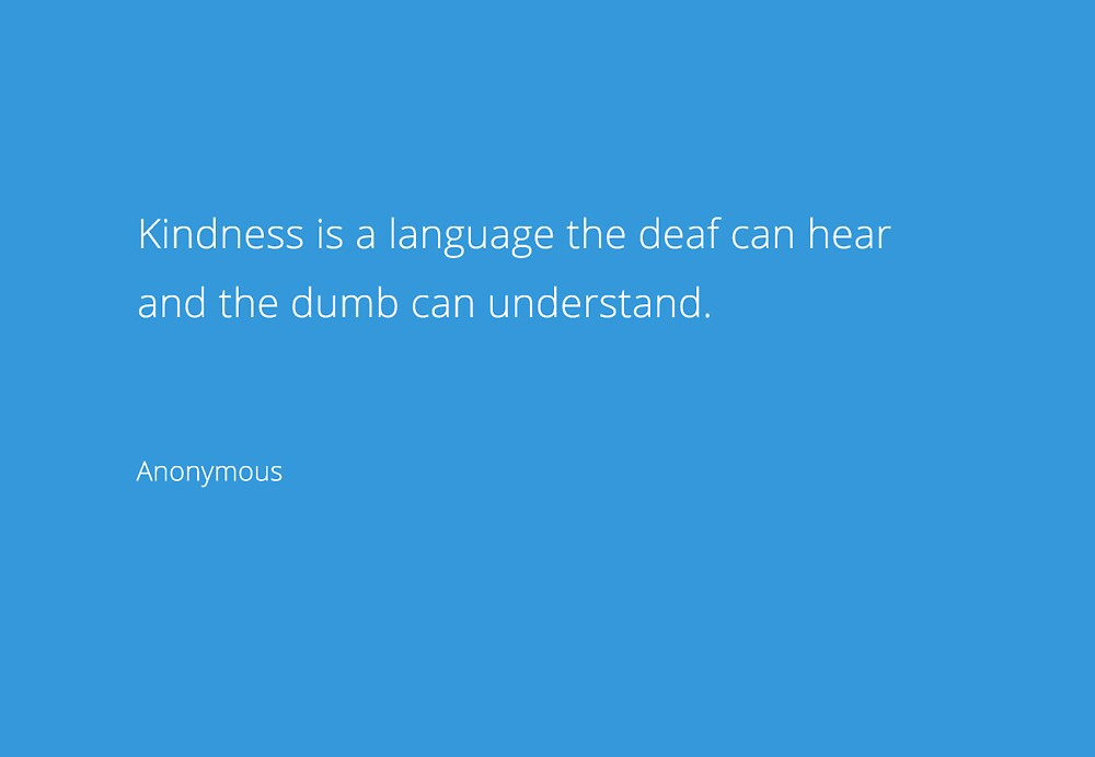 Kindness is a language the deaf can hear by Maya McNicoll