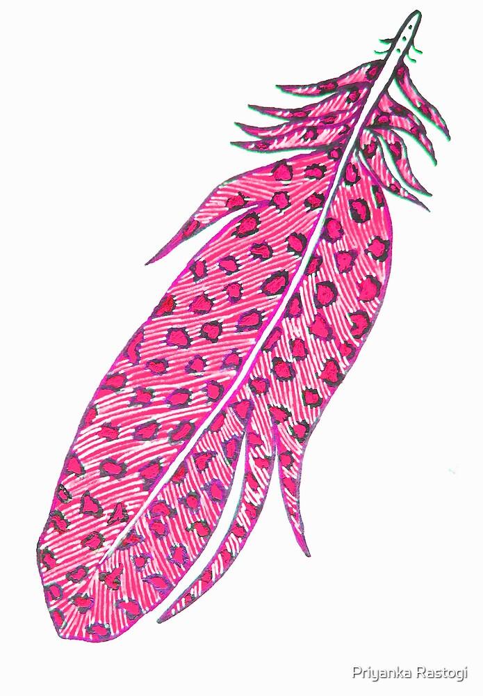 pink feather by Priyanka Rastogi