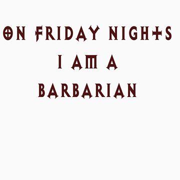 Class shirt- Barbarian by Snowfox