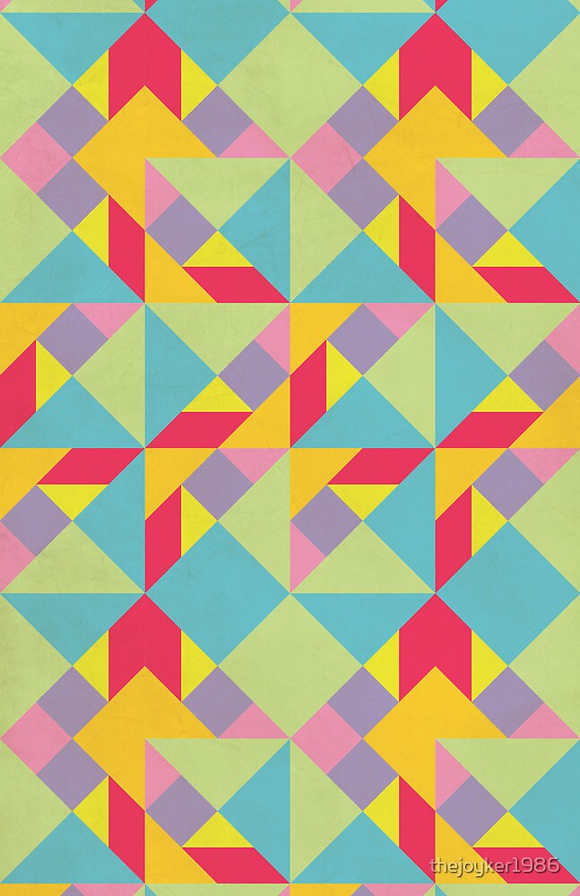 Colorful Tangram Pattern by thejoyker1986