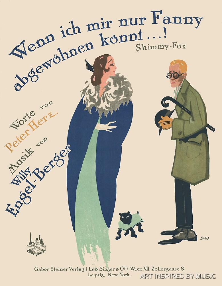WENN ICH MIR NUR FANNY (vintage illustration) by ART INSPIRED BY MUSIC
