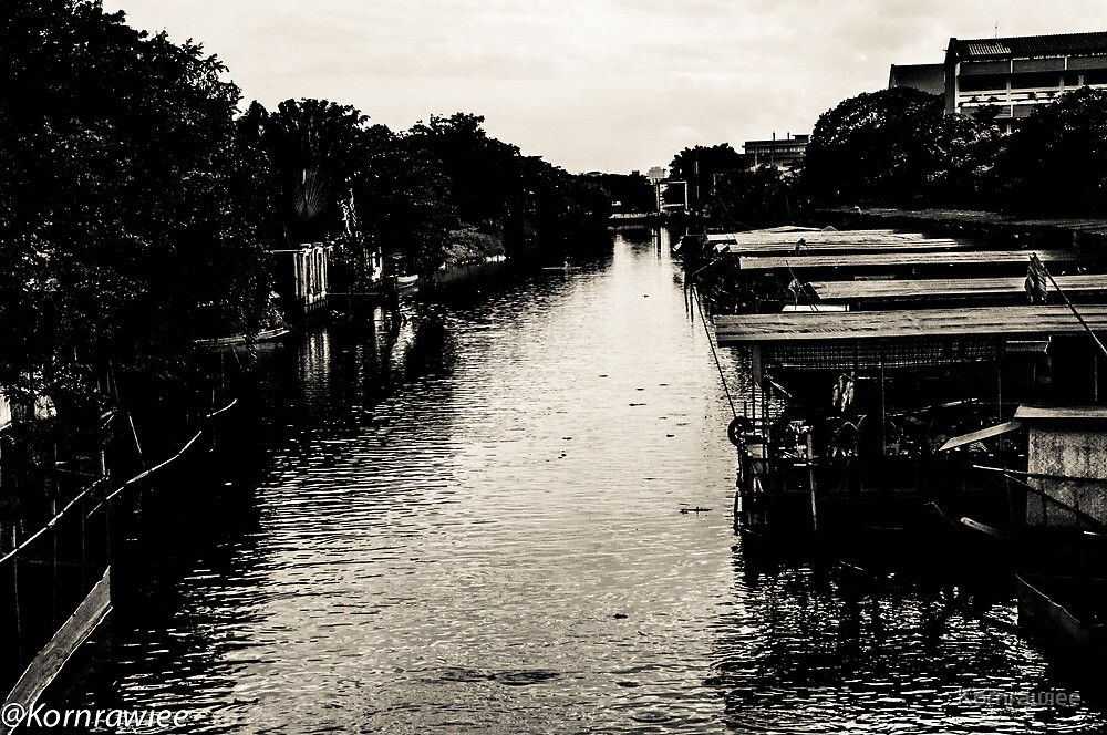 Bangkok at the Canal life by Kornrawiee