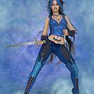 Blue Attiude Digital Art by Lynda Berggren