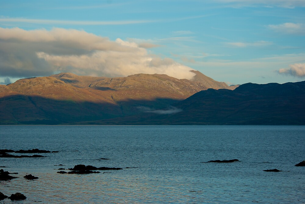 Loch and Mountains by Kevin Cartwright