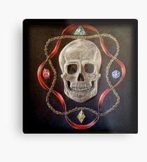 Skull with Jewels Metal Print