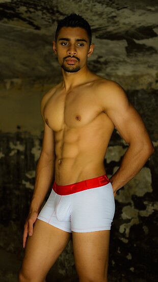 Man in white trunks by RodSydney