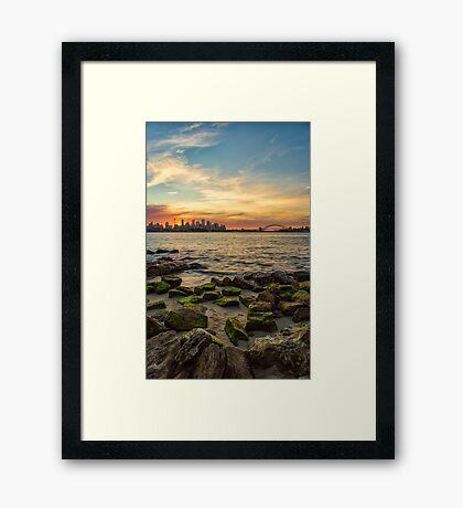 Sunset from Bradley's Head Framed Print