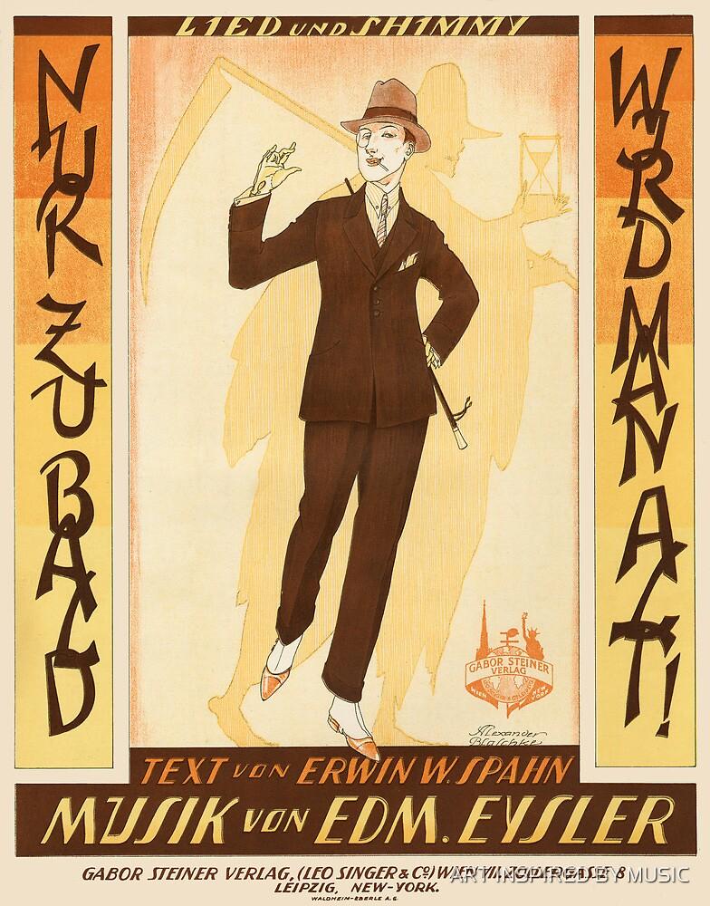 NUR ZU BALD (vintage illustration) by ART INSPIRED BY MUSIC