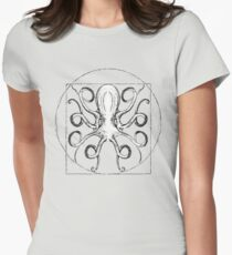 Vintage Octopus Women's Fitted T-Shirt