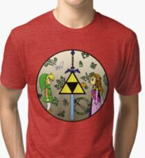 Hyrule Historia Tri-blend T-Shirt