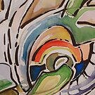 Watercolor abstraction by VicCollider