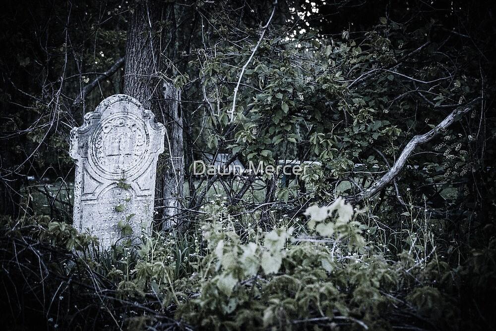 Worn Headstone In Graveyard by MissDawnM