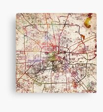Houston map Canvas Print