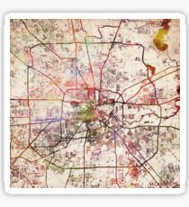 Houston map Sticker