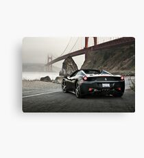 Ferrari 458 Spider | Golden Gate Canvas Print