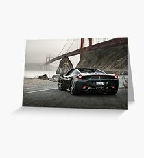 Ferrari 458 Spider | Golden Gate Greeting Card