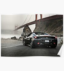 Ferrari 458 Spider | Golden Gate Poster