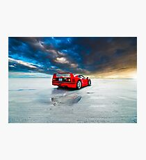 Ferrari F40 | Sunrise Photographic Print