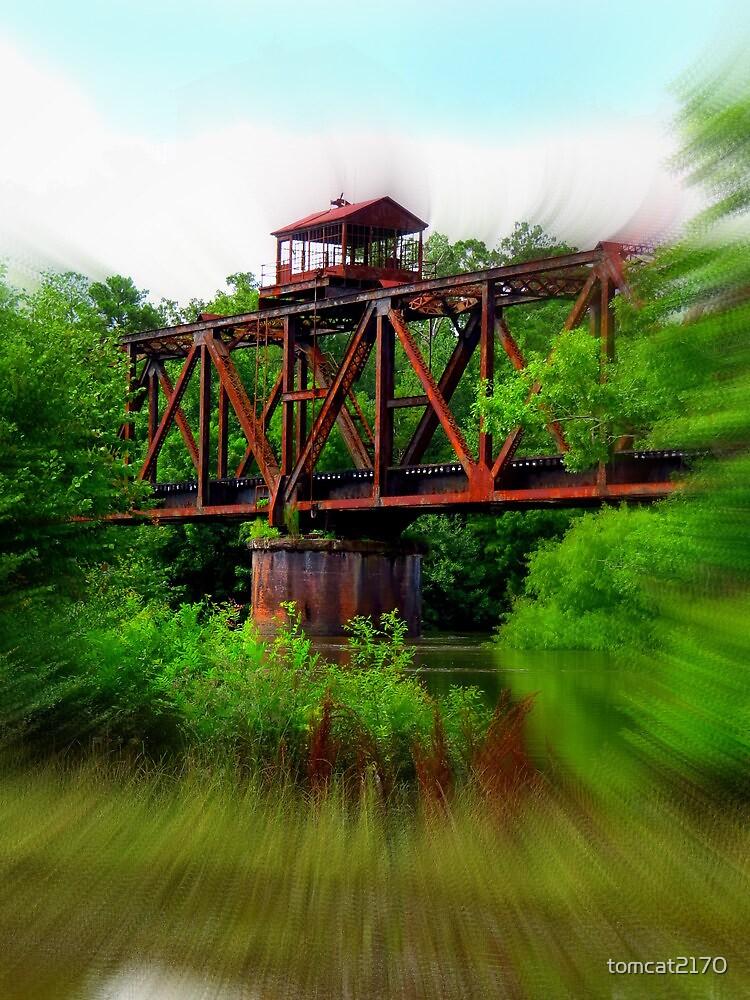 lumber city train tressel blur by tomcat2170