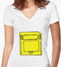 Yellow Boy Women's Fitted V-Neck T-Shirt