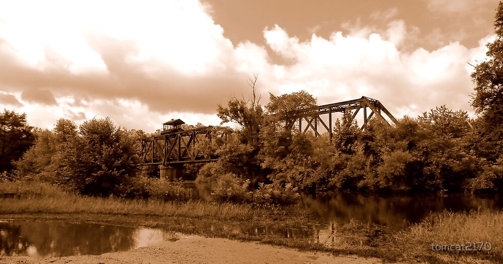 lumber city train tressel sepia by tomcat2170