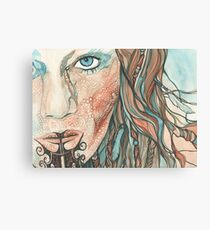 Ta Moko Maori Woman Canvas Print