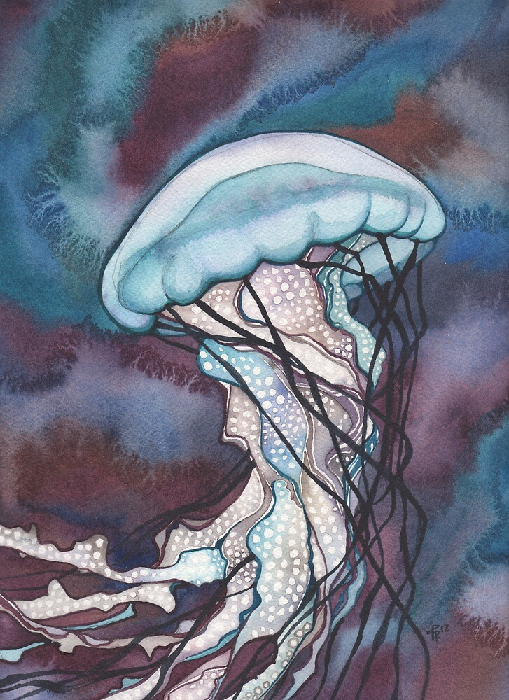 Bold Nettle Jellyfish by Tamara Phillips