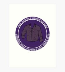 The Purple Shirt Art Print