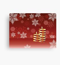 Candle and Snowflakes 4 Canvas Print