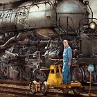 Locomotive - The gandy dancer  by Michael Savad