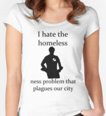 I hate the homeless- Women's Fitted Scoop T-Shirt
