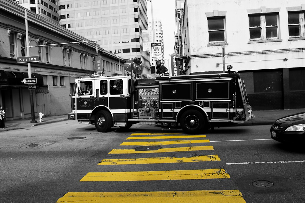 San Francisco Fire Truck Retro Edit by Tom Brown