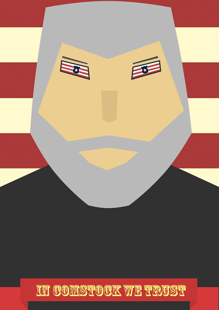 Bioshock Infinite Comstock Patriotic Poster by Tom Brown
