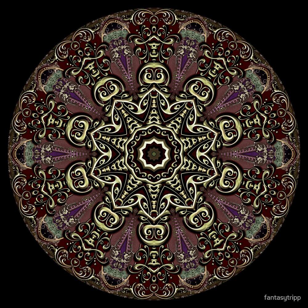 Gold Leaf Text Kaleidoscope 004 by fantasytripp