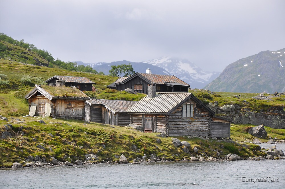 Huts near Gjendesheim, Norway by CongressTart
