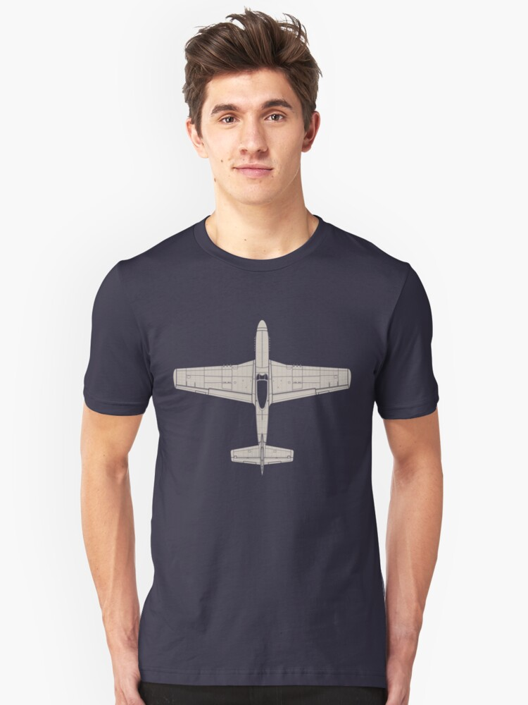 North American P-51D Mustang Unisex T-Shirt Front
