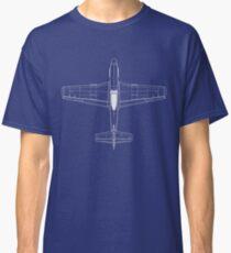 North American P-51D Mustang Blueprint Classic T-Shirt