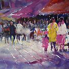 Shopping With The Children - Art Gallery Painting 63 by Ballet Dance-Artist